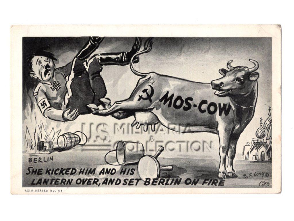 Carte postale de propagande US anti-Hitler