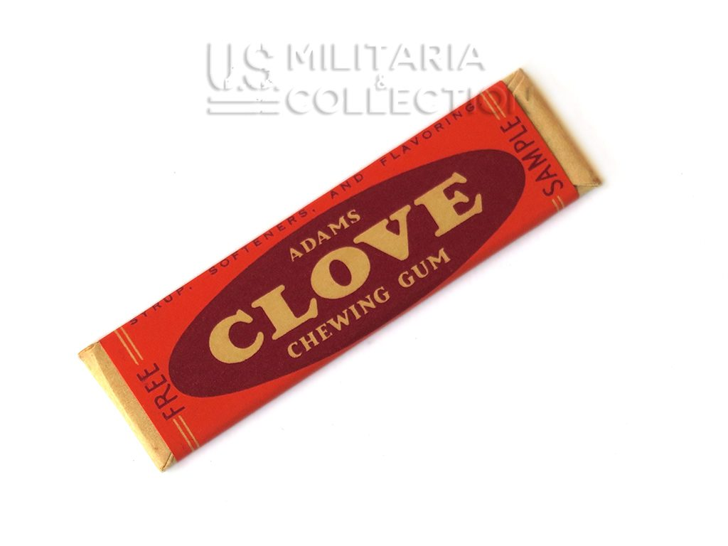 Chewing-gum Clove, origine seconde guerre mondiale.