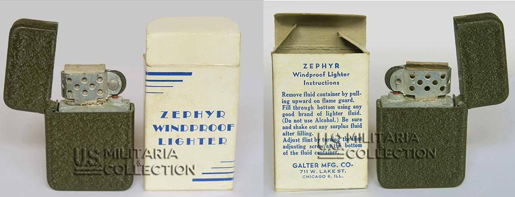 briquet us seconde guerre zephyr galter - Briquet US Army Zephyr GALTER [VENDU]