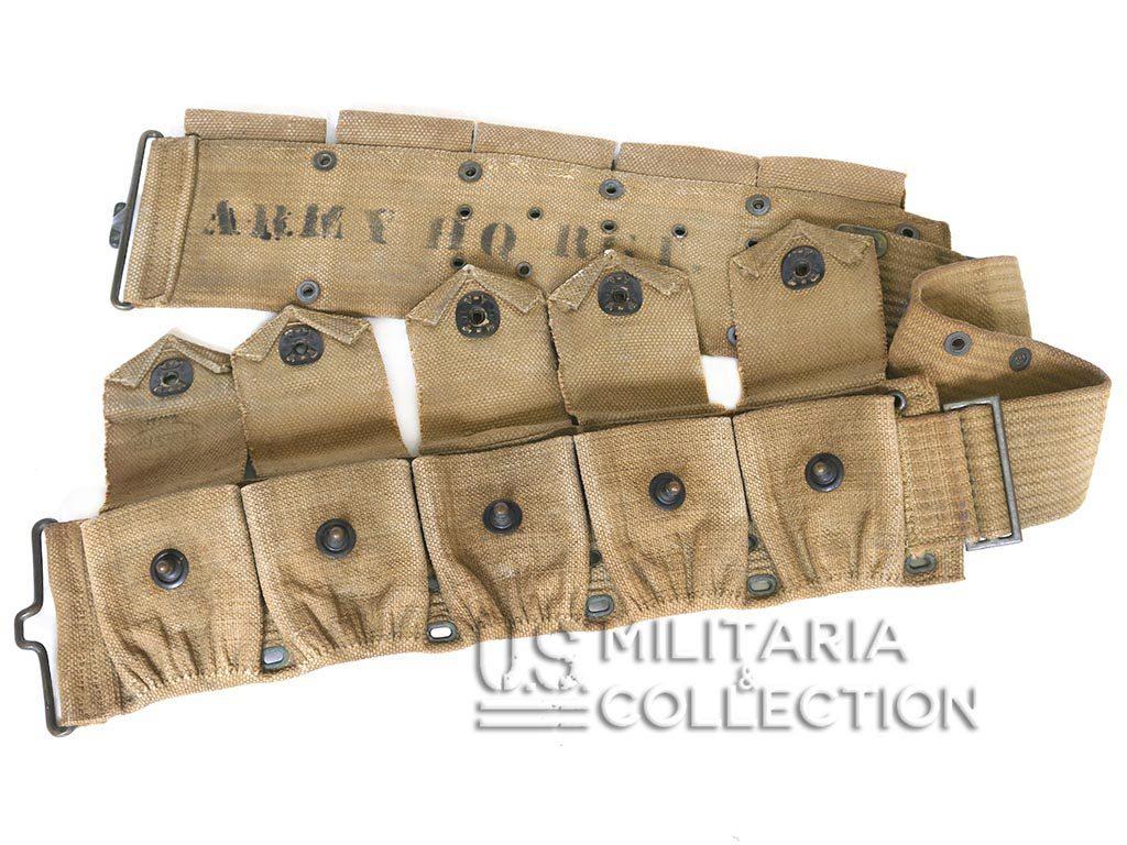 Ceinturon cartouchière Mills M1910 Q.G. 1re Division d'Infanterie US