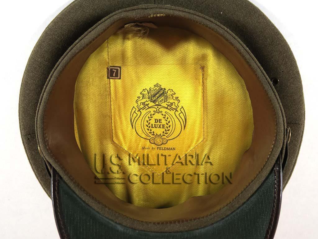 Casquette de service US WW2 avec matricule