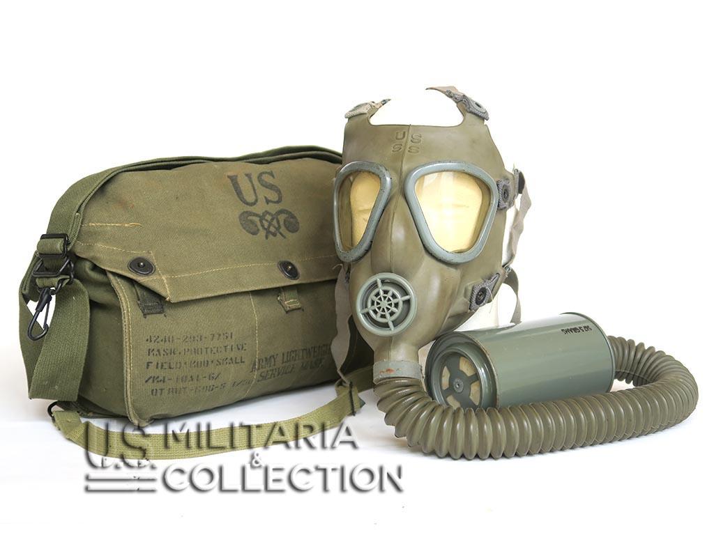 masque gaz us m4 et sa musette m6 us militaria collection. Black Bedroom Furniture Sets. Home Design Ideas