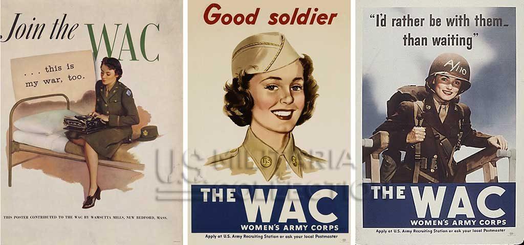 Personnel Féminin US Army WAAC WAC