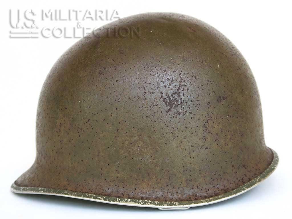 Casque US M-1 pattes fixes Bataille des Ardennes