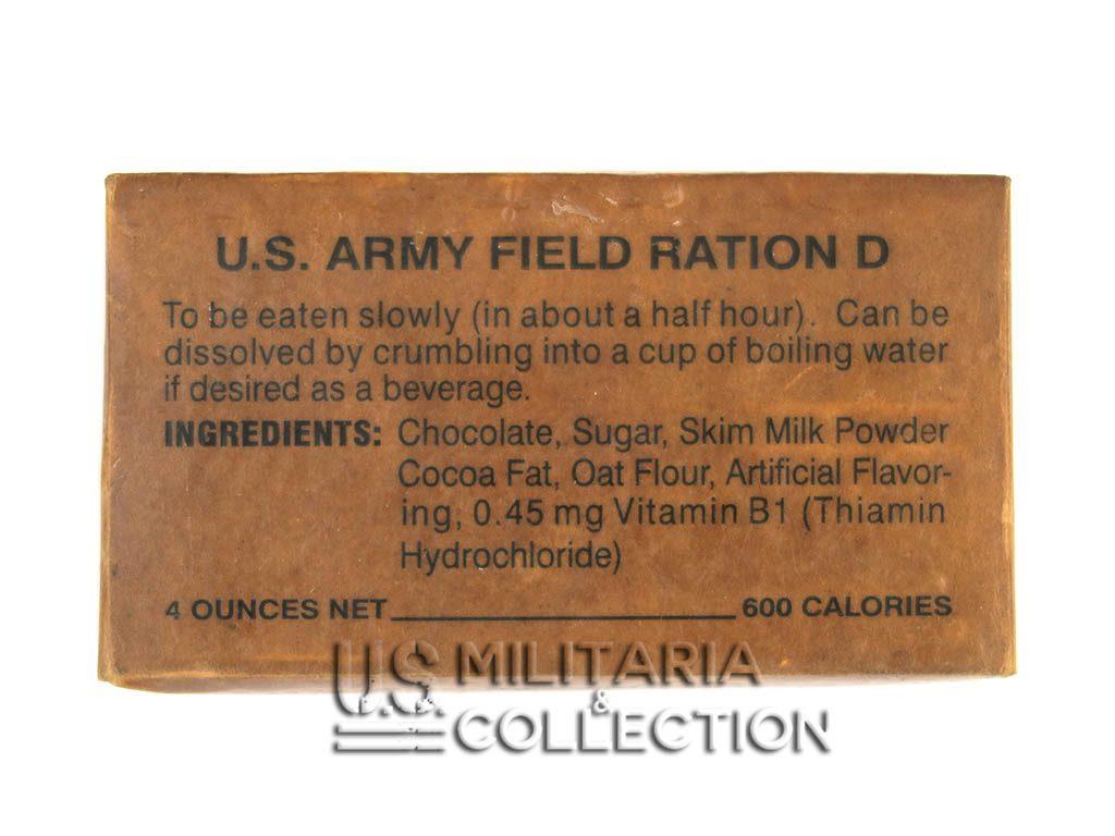 RATION D, RATION US Field RATION D