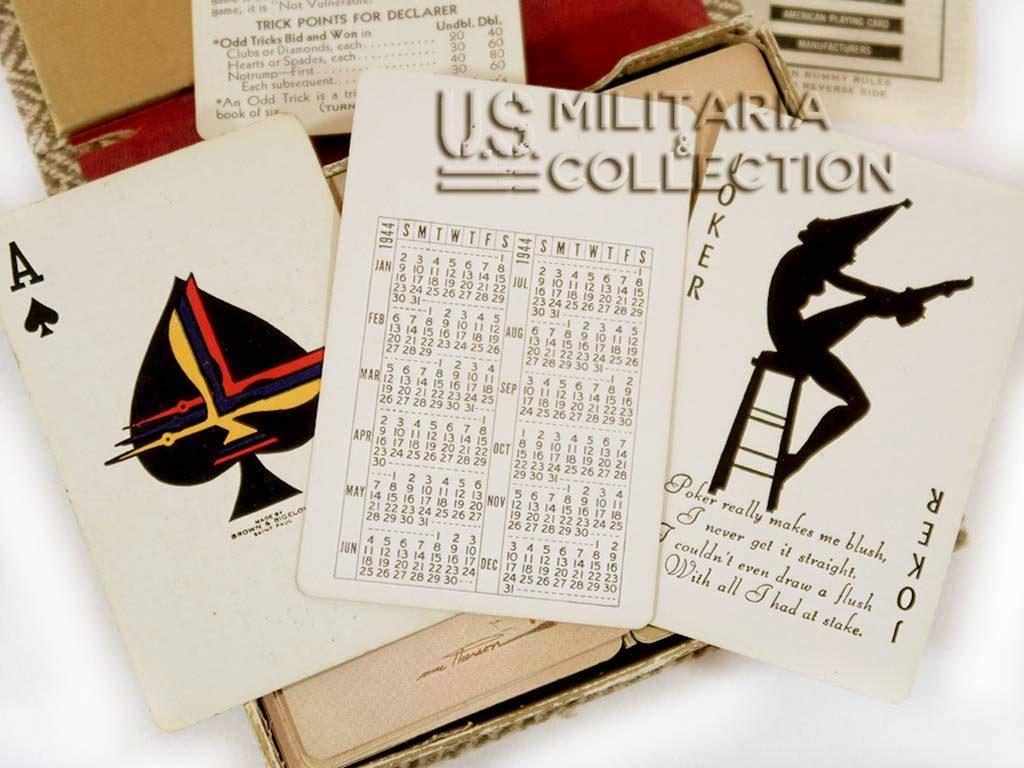Jeu de cartes Pin-up US 1944