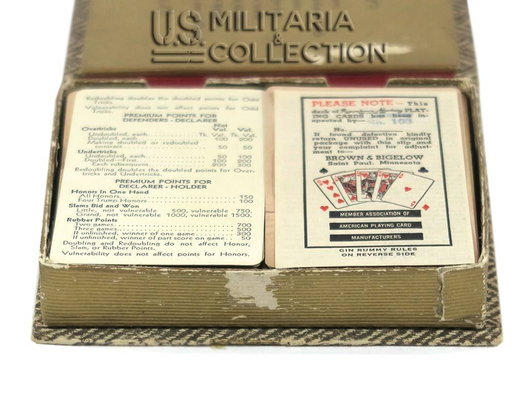 Jeu de cartes Pin-up US 1944