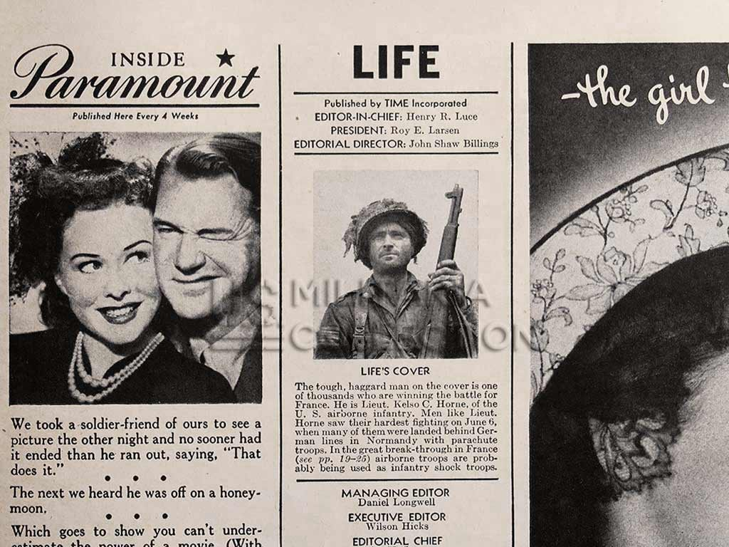 Magazine Life du 14 août 1944 in Normandy