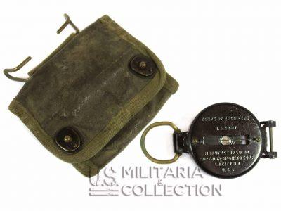 Boussole de marche US ARMY avec pochette