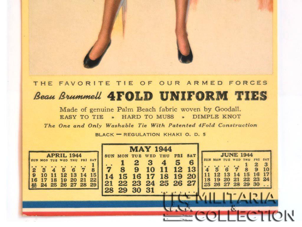 Calendrier de G.I. daté 1943