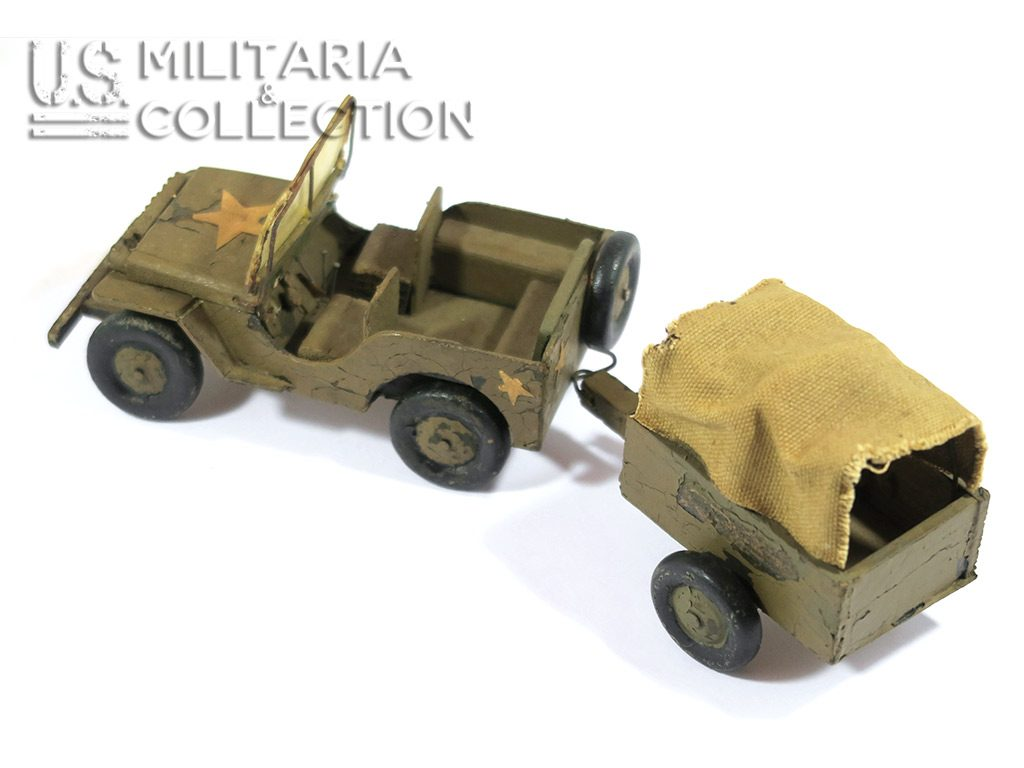 Jouet US Seconde Guerre, Jeep Willys en bois
