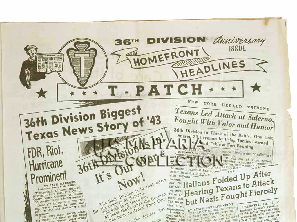 "36e division infanterie US ""Texas"", journal 1944"