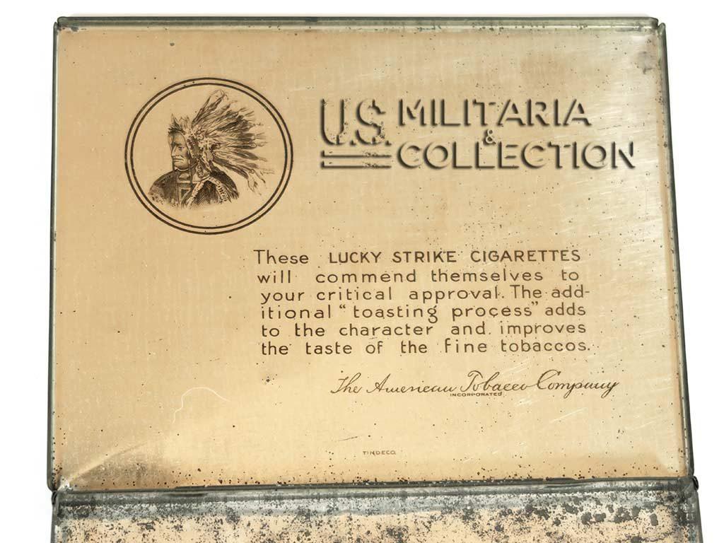 Boite de cigarettes Luky Strike en métal
