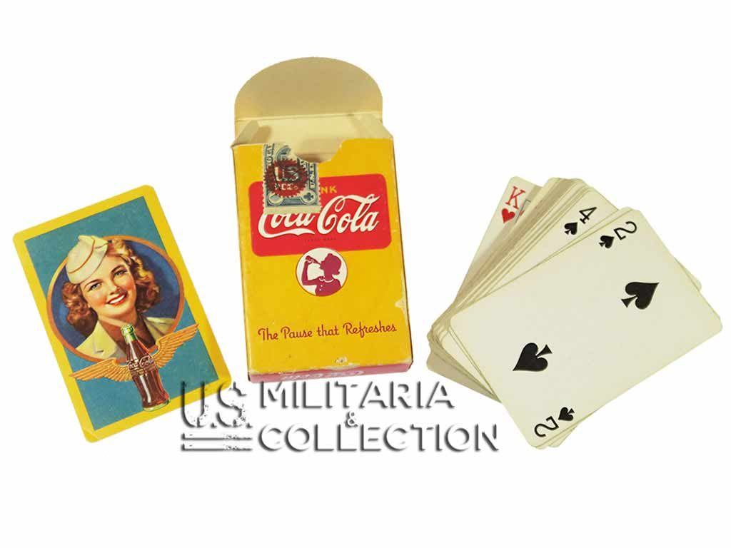 Jeu de cartes US COCA-COLA Seconde Guerre