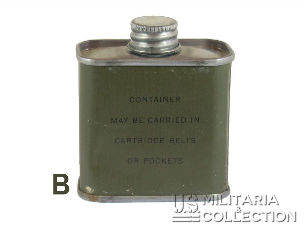 Bidon huile U.S. huilier ceinturon fusil Garand