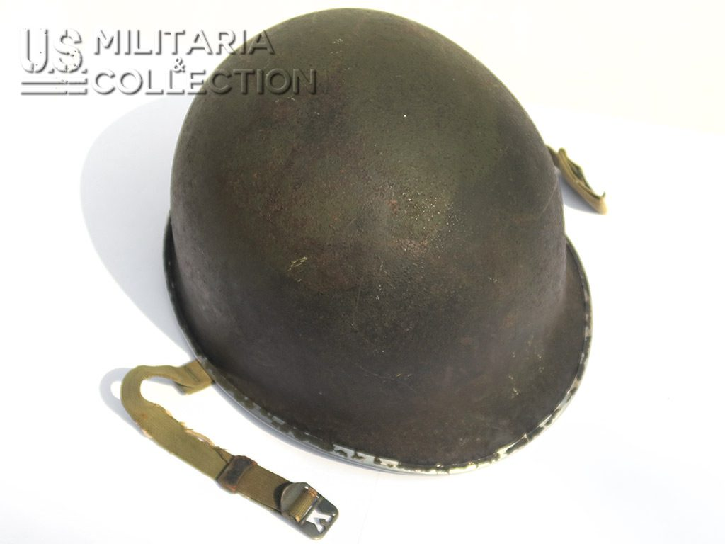 Casque M1 pattes fixes, camouflage 2 tons.
