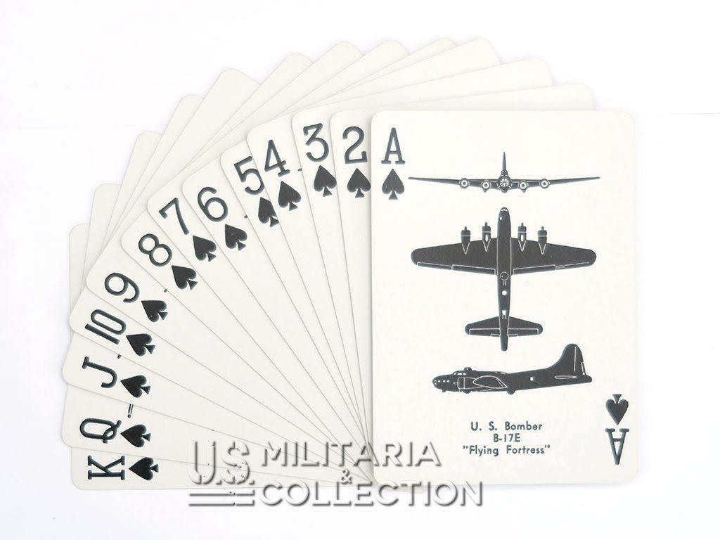 Jeu de cartes Airplane Spotter daté 1943