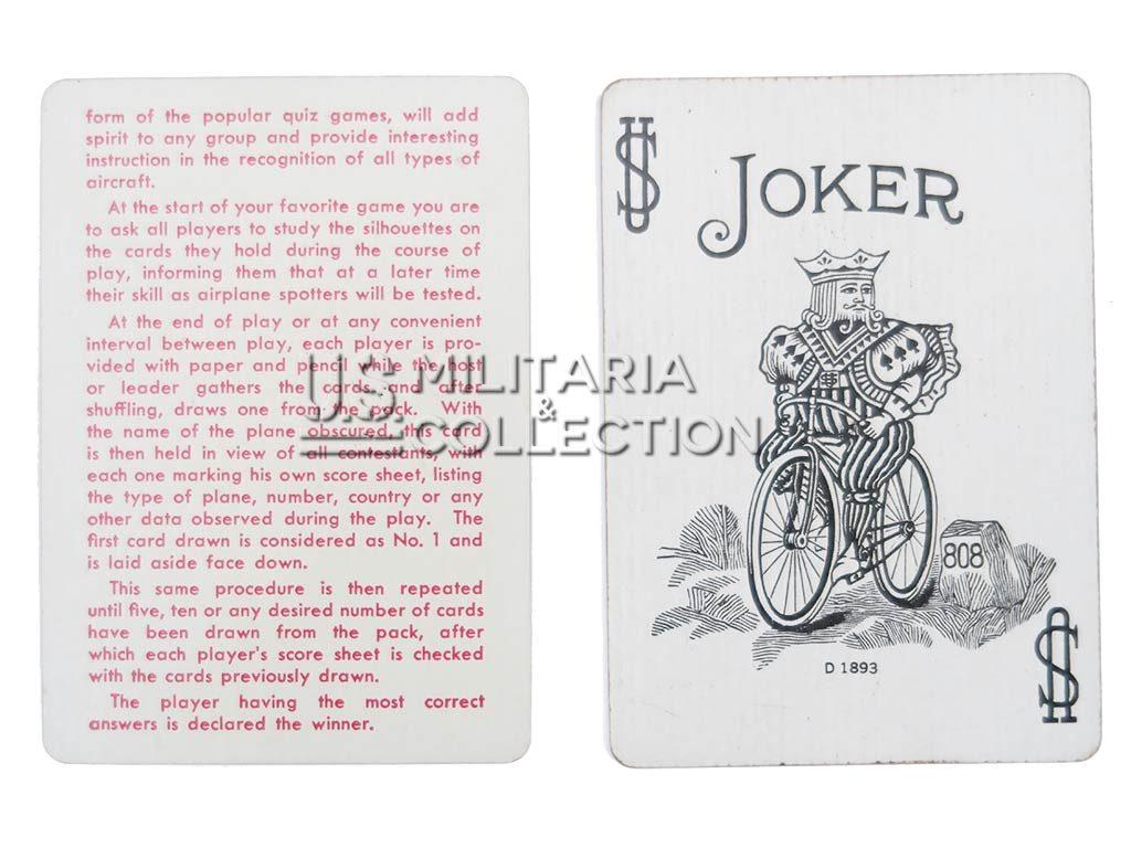 Jeu de cartes US SPOTTER CARDS