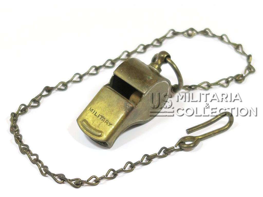 Sifflet US ARMY laiton Police Militaire Officier US