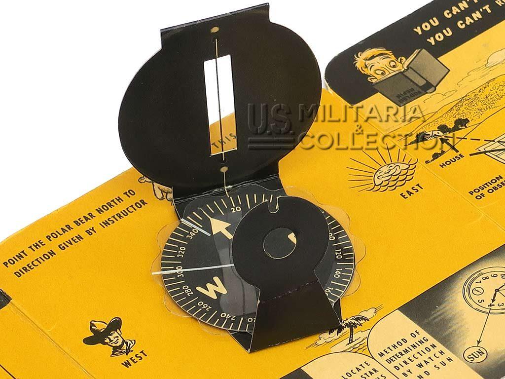 Boussole US pochette et guide d'utilisation