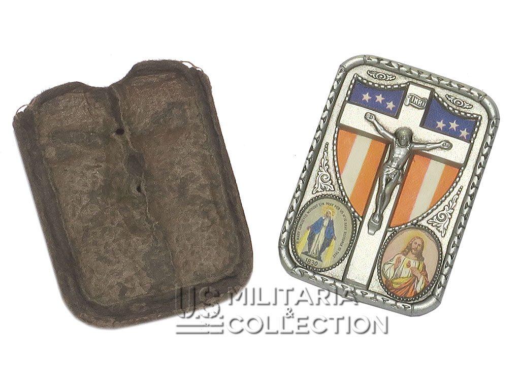Plaque religieuse catholique soldat américain