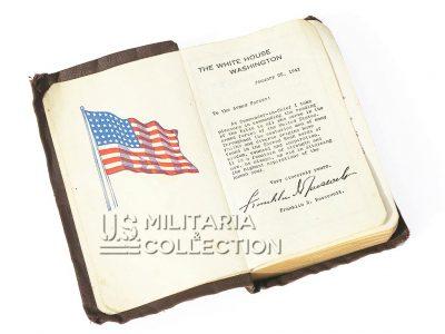 Bible US ARMY avec nom et matricule