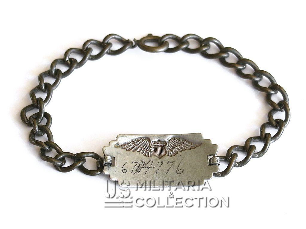 Bracelet-gourmette de pilote US