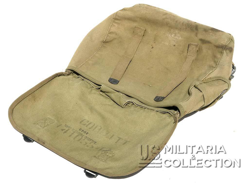 Musette M-1946, 1943, Nominative, 3ème armée ETO.