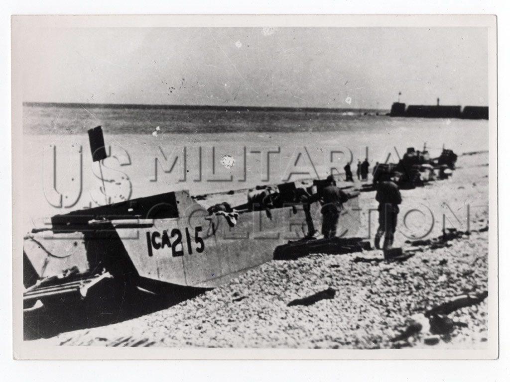 Raid de Dieppe opération Jubilee photo originale