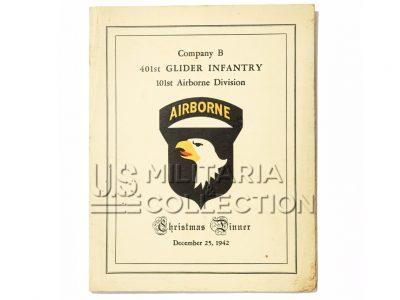 101ème airborne 401st glider compagnie b menu