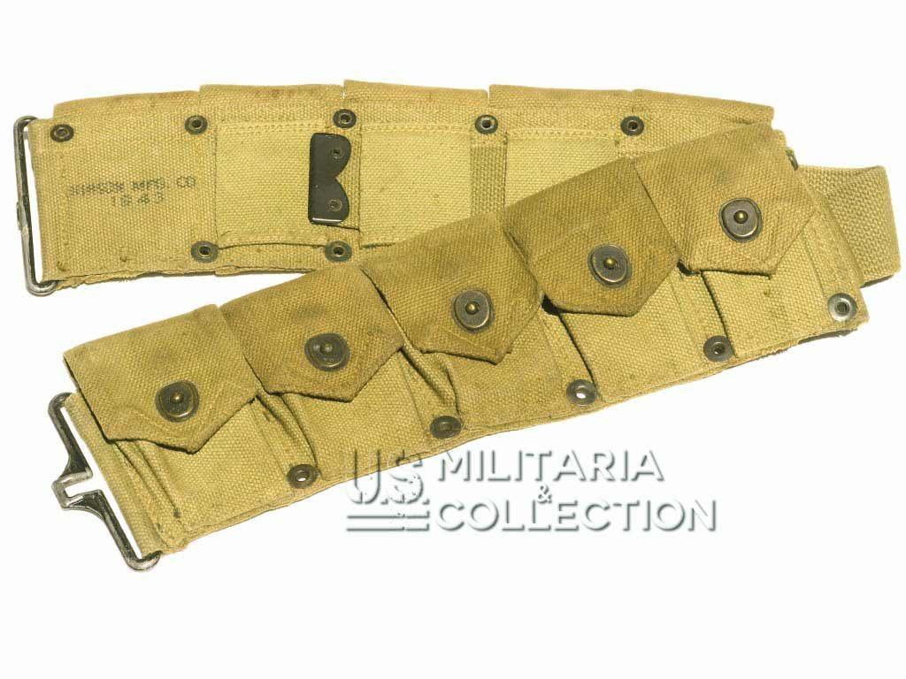 Ceinturon cartouchière M-1923 Garand 1943