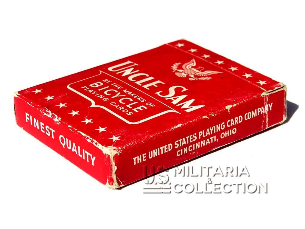 Jeu de cartes US Army, Uncle Sam 1942 rouge