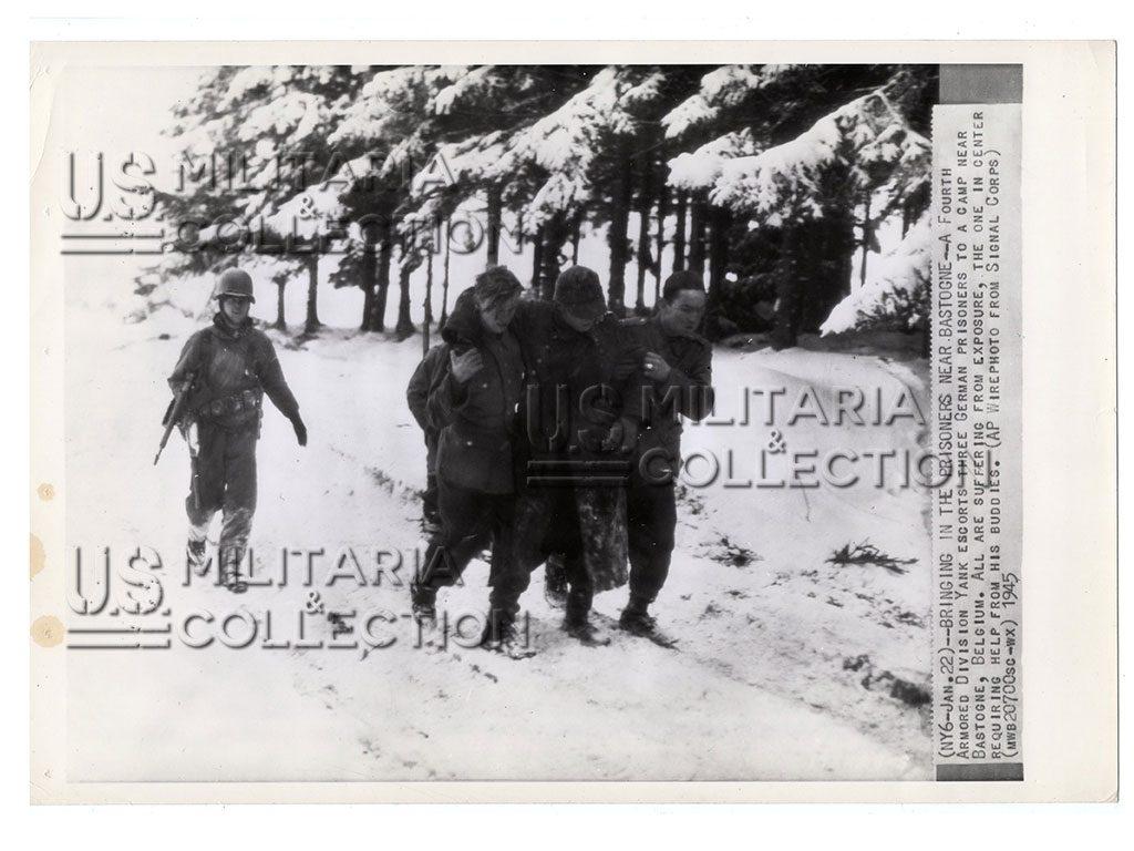 Bastogne 4th Armored Division prisonniers