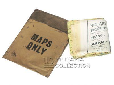 Carte d'évasion en soie C/D 1943 + pochette