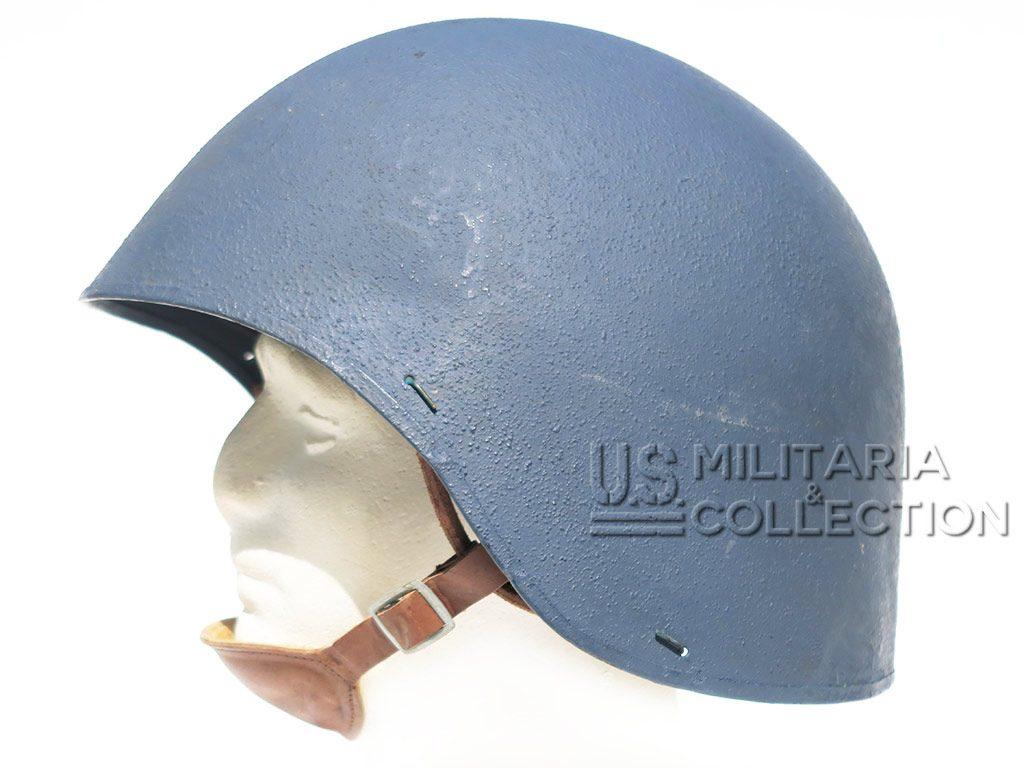 CASQUE US NAVY MARK II. Peinture bleu Navy clair 1943