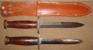 Couteau USM3 CASE manche lisse étui cuir