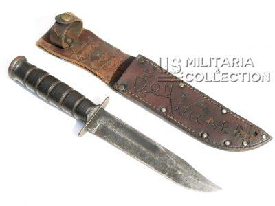 Couteau USMC (KA-BAR) et son fourreau personnalisé