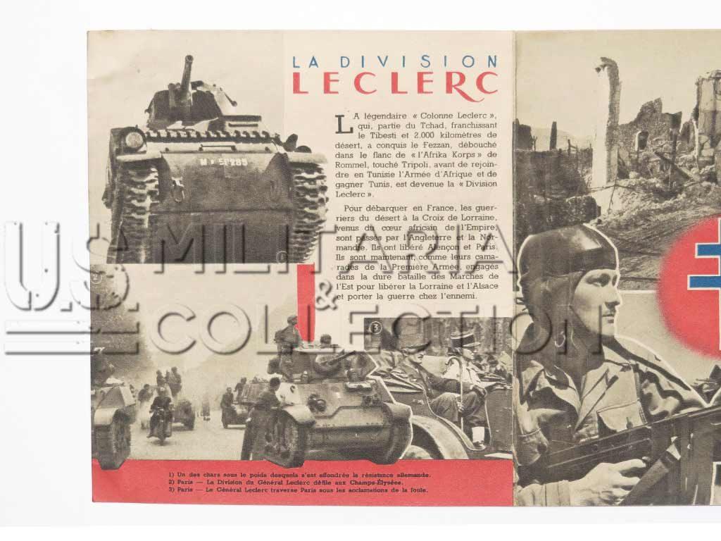 Division LECLERC 2e DB au combat brochure de propagande.