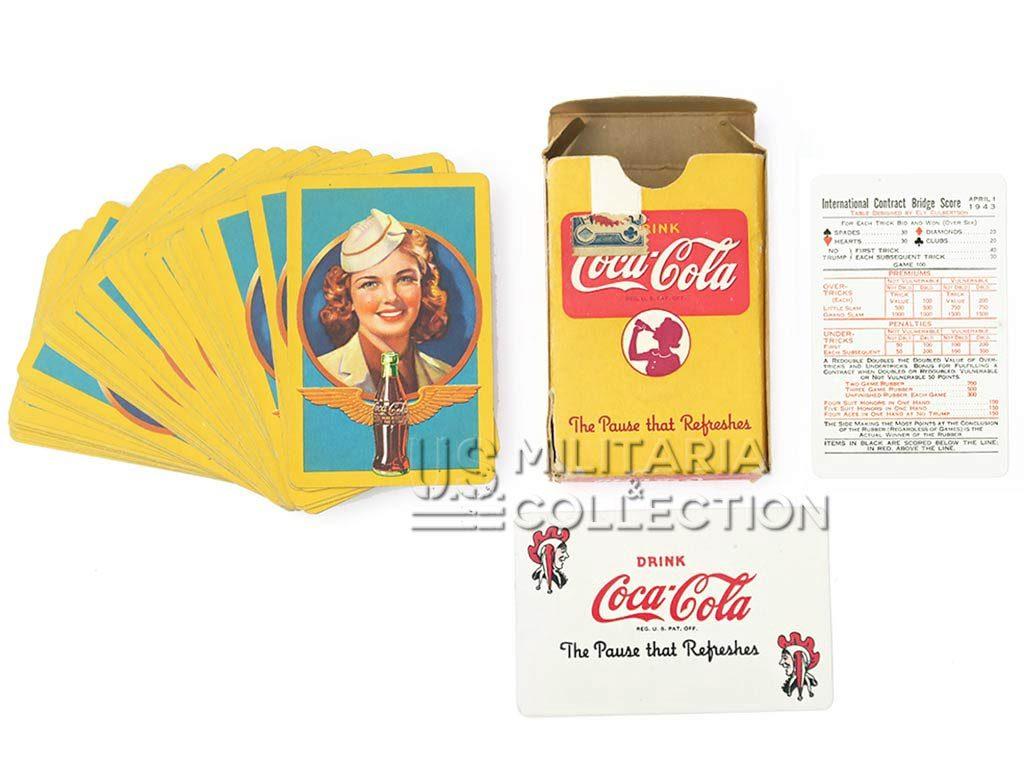 Jeu de cartes COCA-COLA daté 1943