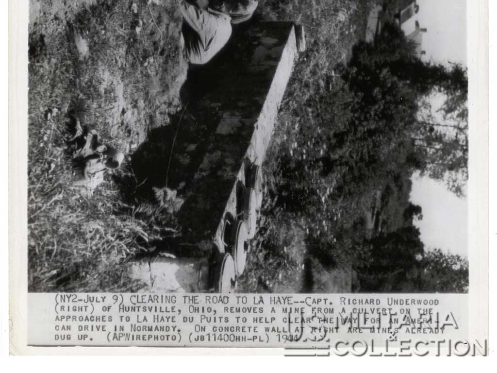 La Haye-du-Puits déminage du pont juillet 1944