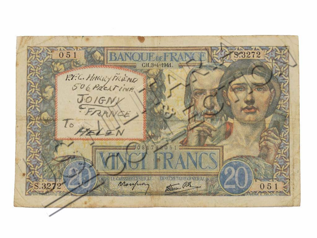 506th PIR billet de banque Joigny