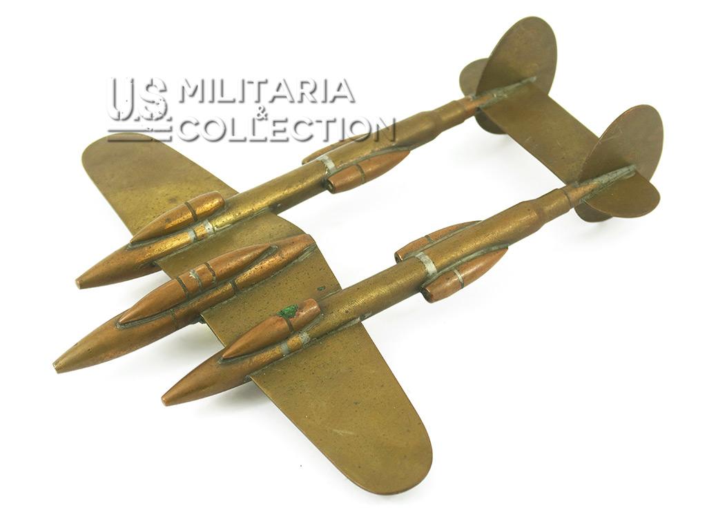 Avion P-38 Lightning réalisé par un Gi