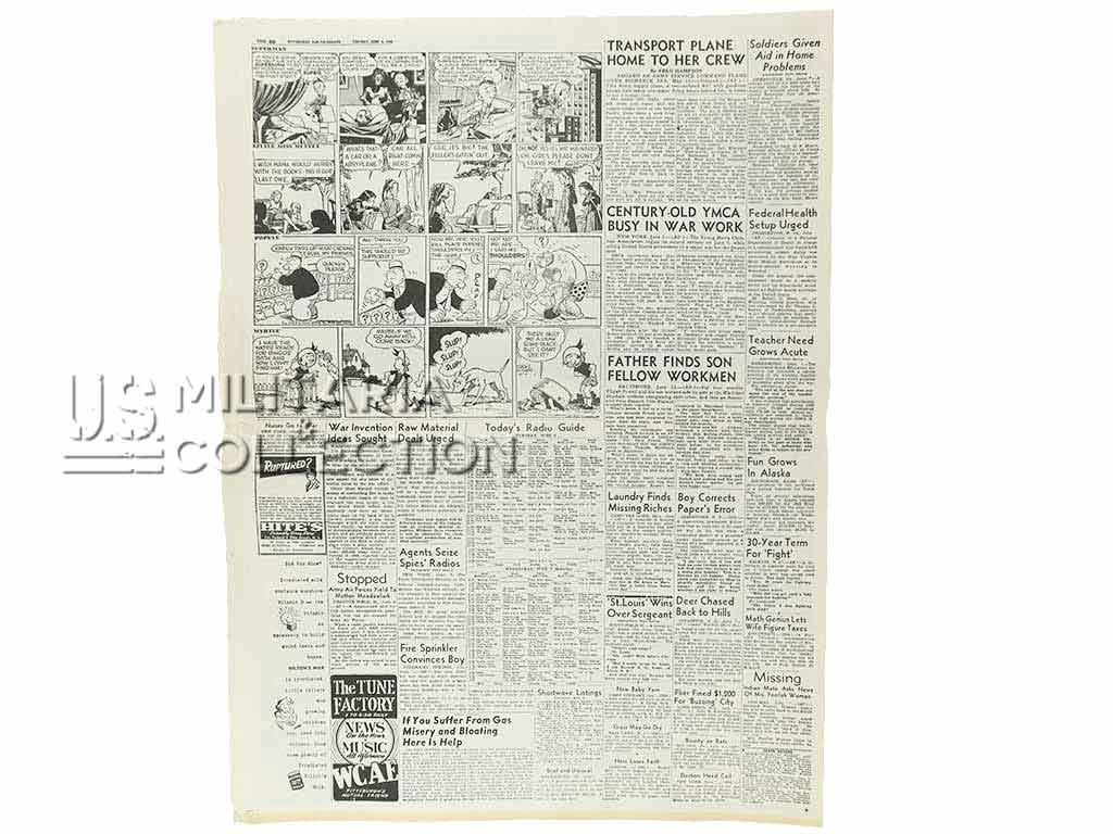 Journal US du débarquement Sun-Telegraph