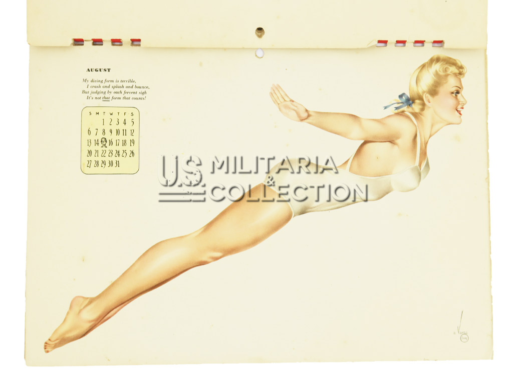Calendrier US Pin Up Varga 1944