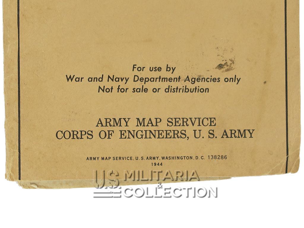 Carte routière US ARMY France, 1944.