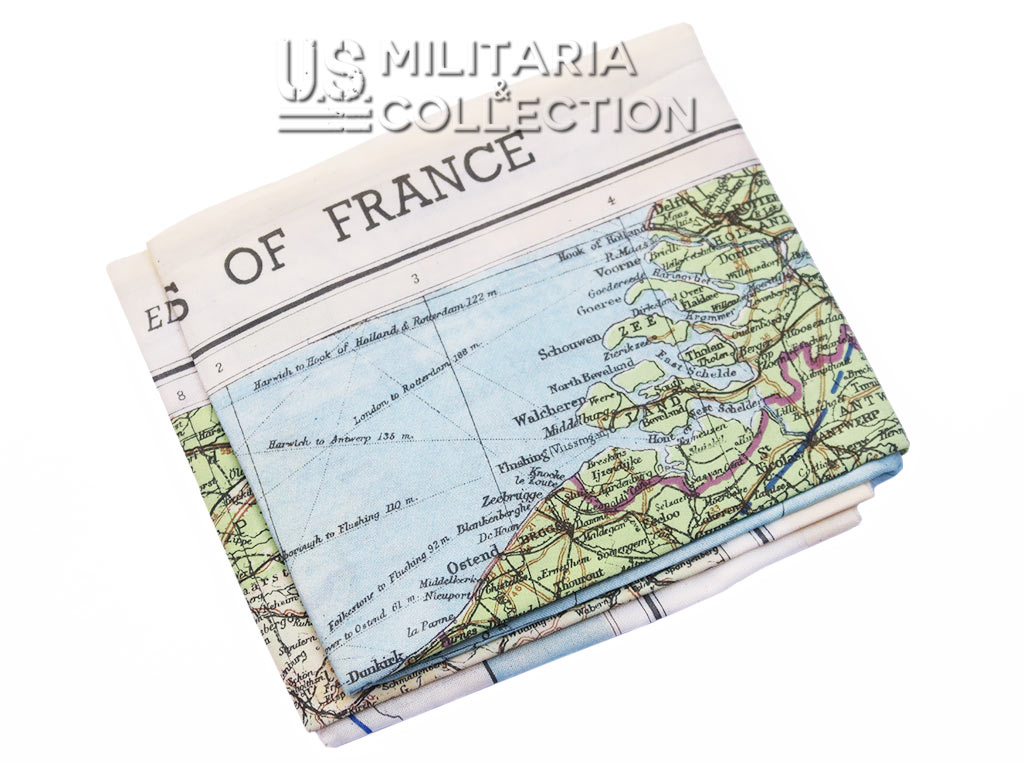 Carte Zones of France. Paratrooper map 1944.
