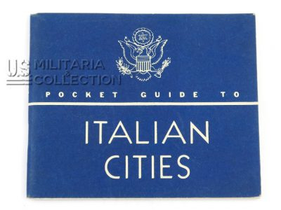 Livret guide to Italian cities, 1944