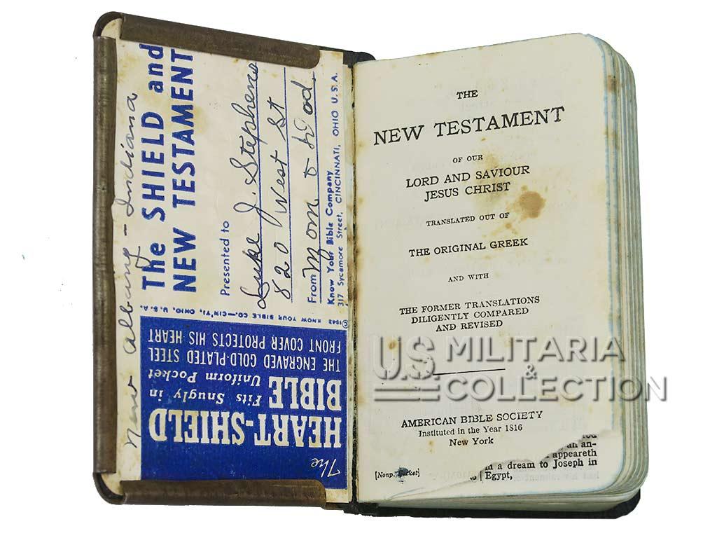 Bible US couverture métal 1943