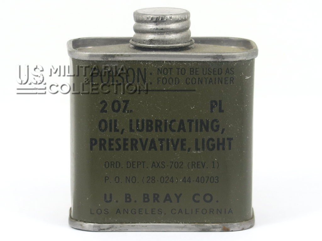 Bidon huile ceinturon GARAND