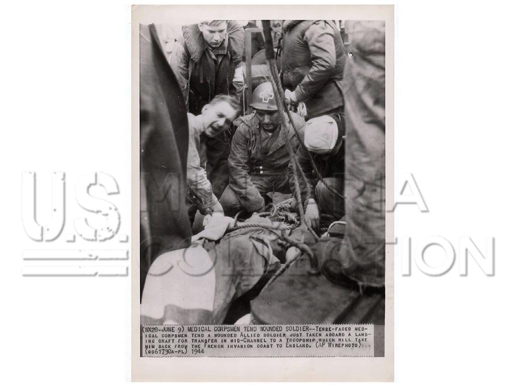 Infirmier Américain évacuation LCV, Normandie